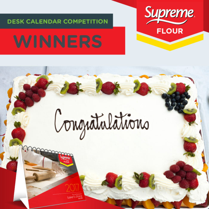 Supreme 2017 Recipe Calendar Competition Winners