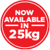 Now available in 25kg