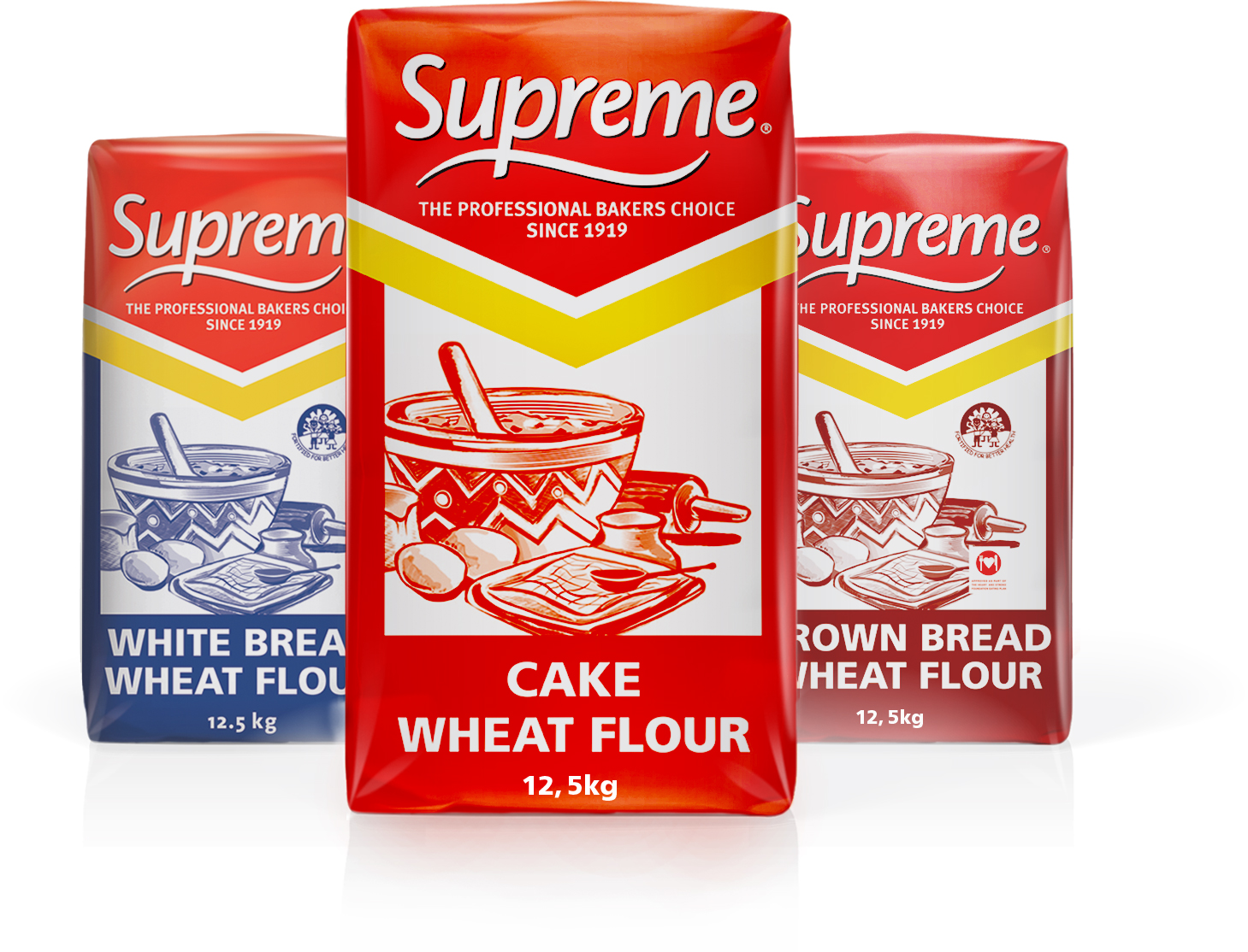 A selection of SUPREME flour products